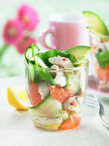 салат из индейки с грейпфрутом