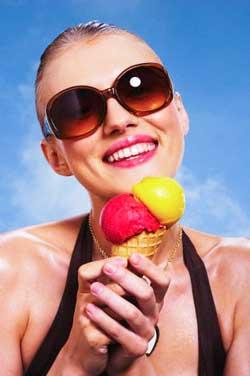 низкокалорийное мороженое
